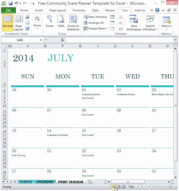 Three Month Calendar Template Excel Luxury event Calendar Excel Template