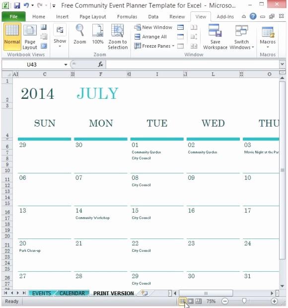 Three Month Calendar Template Excel Luxury event Calendar Excel Template