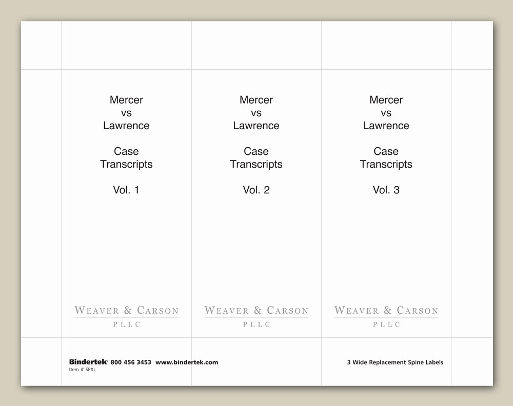 """Three Ring Binder Spine Template Beautiful Insertable Spine Labels for 4"""" Wide Binders"""