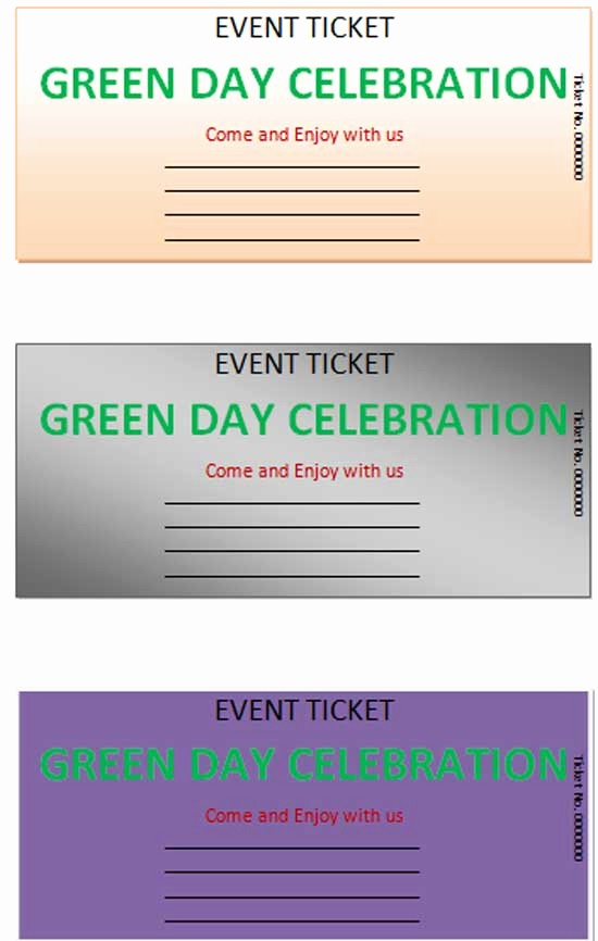 Ticket Template for Microsoft Word Awesome event Ticket Template Microsoft Word Templates