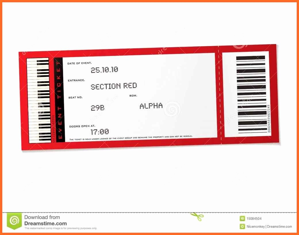 Ticket Template for Microsoft Word Beautiful Template Concert Ticket Template