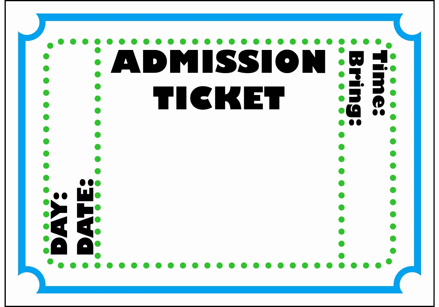 Ticket Template for Microsoft Word Elegant Blank Ticket Template Mughals