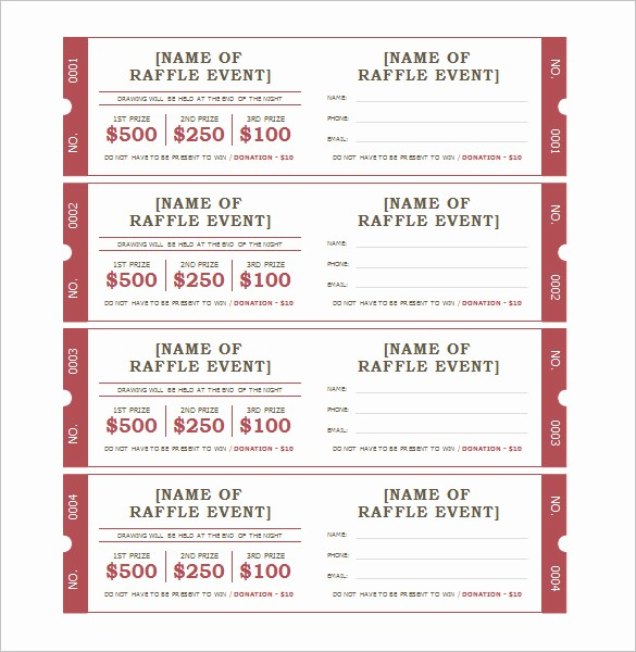 Ticket Template for Microsoft Word Elegant Microsoft Office Ticket Template event Ticket Template