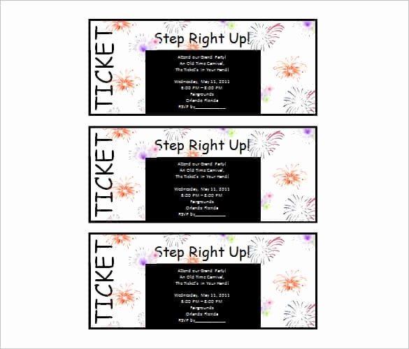 Ticket Template for Microsoft Word Fresh 69 Microsoft Invitation Templates Word