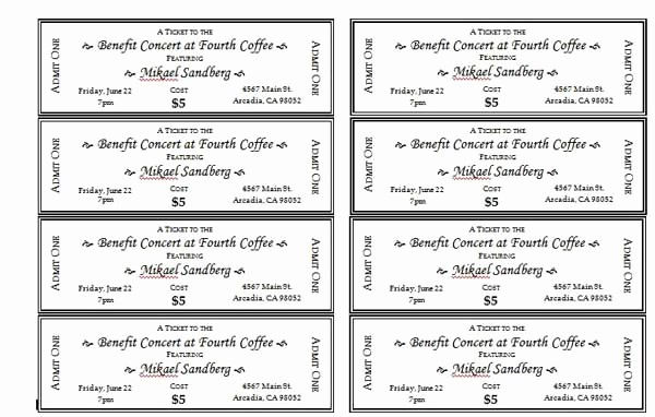 Ticket Template for Microsoft Word Lovely event Ticket Templates Microsoft Word Templates