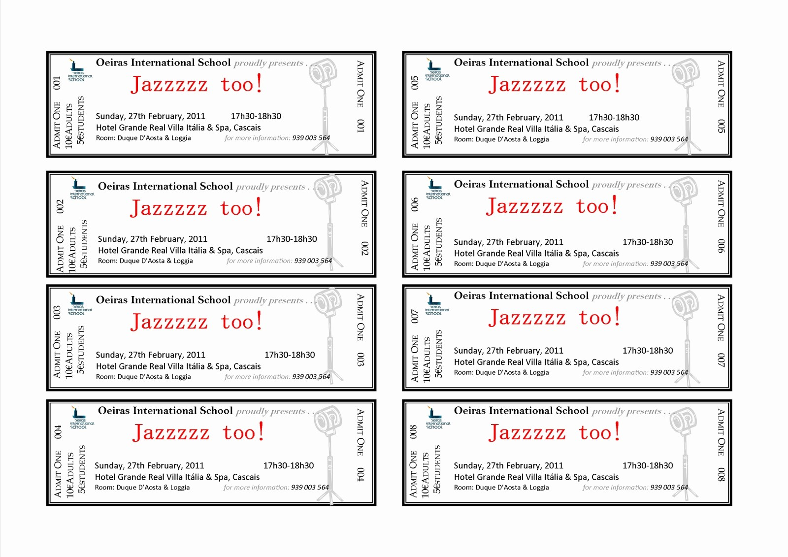 Ticket Template for Microsoft Word Luxury event Ticket Template