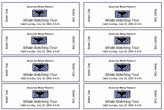 Ticket Template for Microsoft Word New event Ticket Template