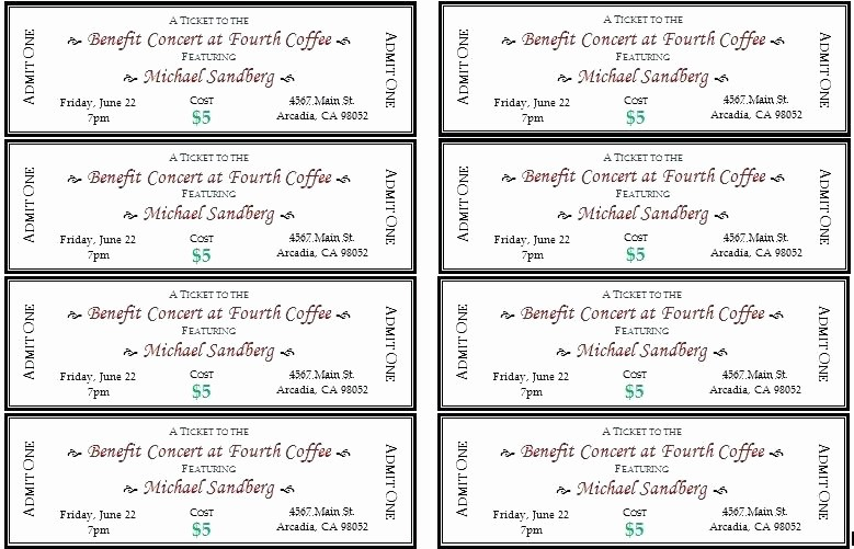 Ticket Templates 8 Per Page Beautiful Ticket Templates 8 Per Page Inspirational Raffle Tickets