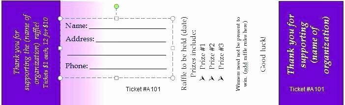 Ticket Templates 8 Per Page Fresh Avery Raffle Tickets Printable Best solutions Ticket