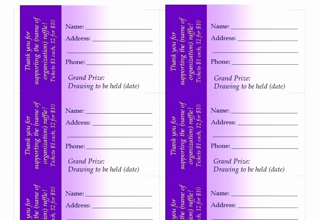 Ticket Templates 8 Per Page Inspirational Resume New Raffle Ticket Template Wallpaper Avery Tickets