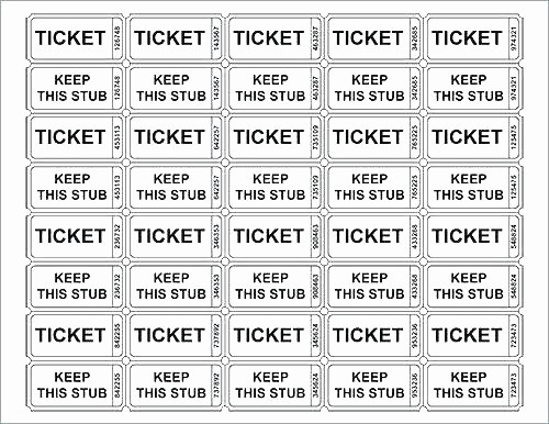 Ticket Templates 8 Per Page Lovely Resume New Raffle Ticket Template Wallpaper Avery Tickets