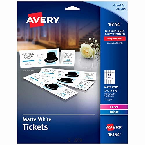 Ticket Templates 8 Per Page Lovely Ticket Template 8 Per Sheet Amazon