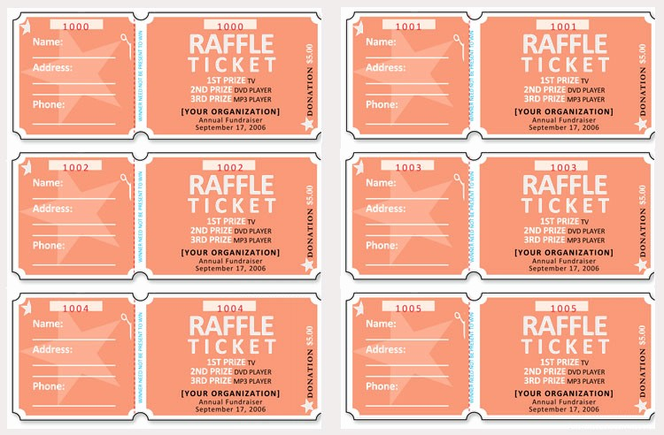 Ticket Templates 8 Per Page Luxury 45 Raffle Ticket Templates