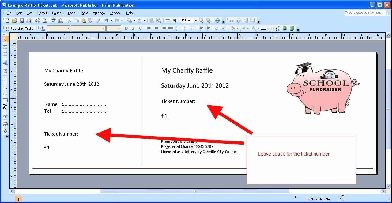 Ticket Templates 8 Per Page Luxury New Avery Raffle Ticket Template 8 Per Sheet