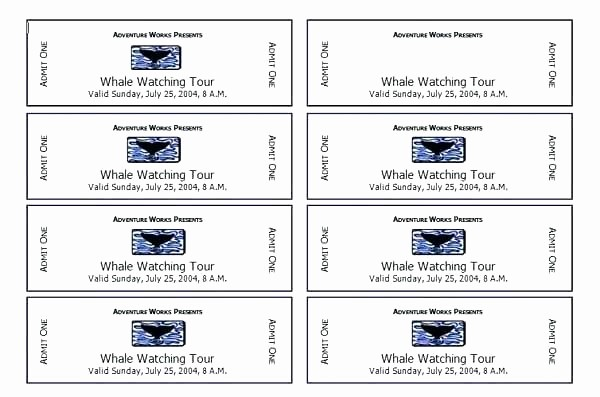 Ticket Templates 8 Per Page New Avery Raffle Tickets Printable Ticket Template Word