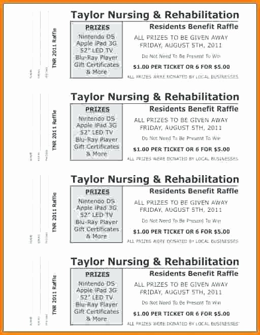 Ticket Templates 8 Per Page Unique Raffle Ticket Word Template – Meetwithlisafo
