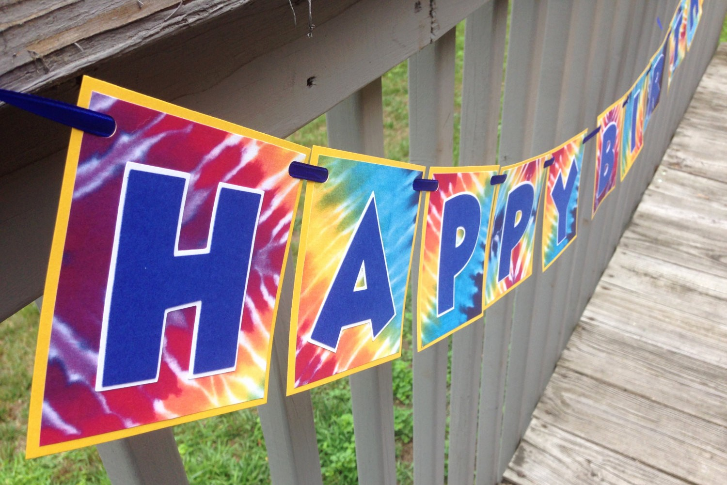 Tie Dye Happy Birthday Images Awesome Ready to Ship Happy Birthday Tie Dye Banner