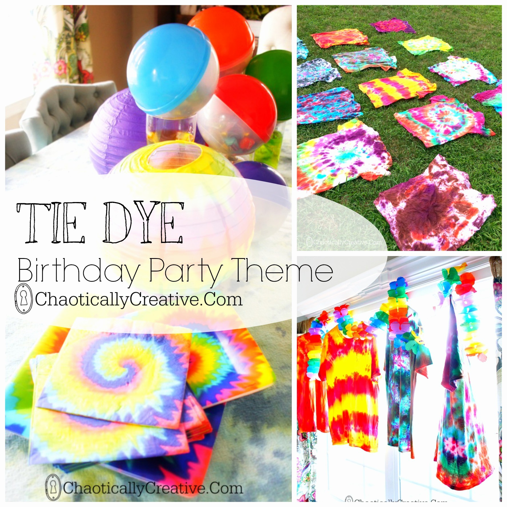 Tie Dye Happy Birthday Images Awesome Tie Dye Party Chaotically Creative