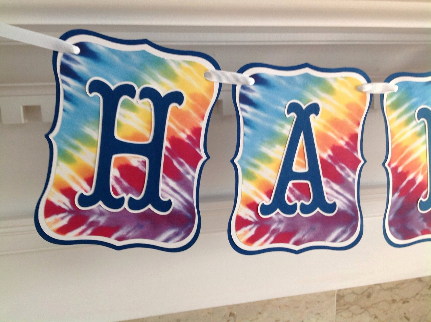 Tie Dye Happy Birthday Images Beautiful Rainbow Tie Dyed Dye Colorful Happy Birthday Banner