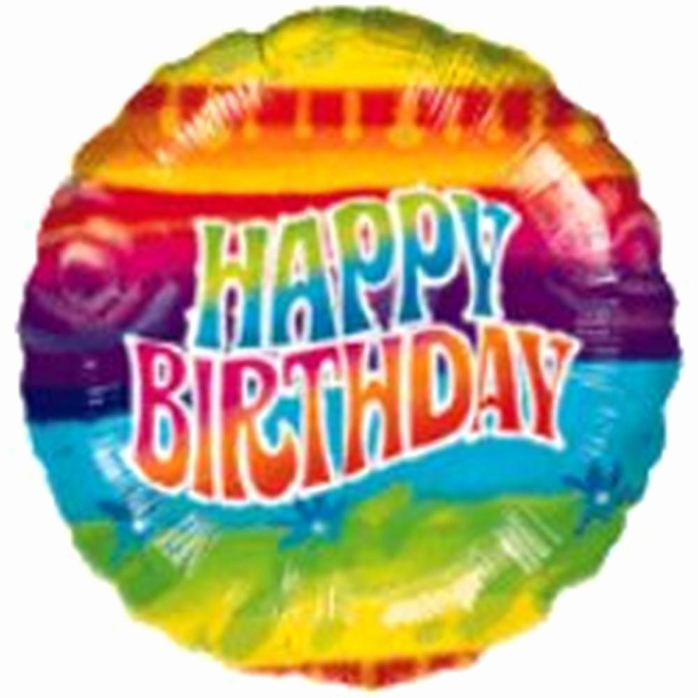 Tie Dye Happy Birthday Images Beautiful Tie Dye Happy Birthday Foil Balloon
