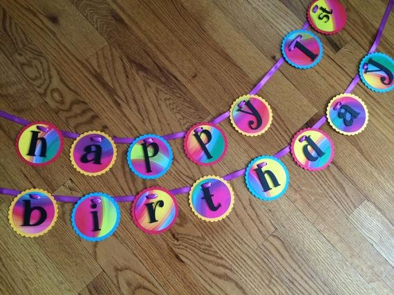 Tie Dye Happy Birthday Images Beautiful Tie Dye Retro Funky Psychedelic Happy Birthday Party