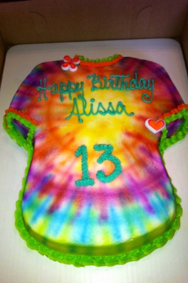 Tie Dye Happy Birthday Images Elegant Tie Dye 13th Birthday Cake Party Ideas