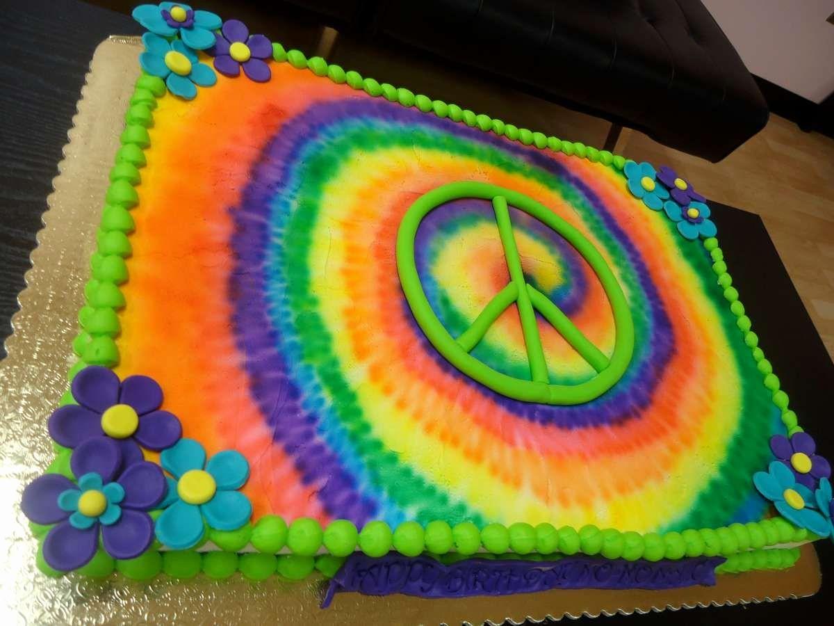 Tie Dye Happy Birthday Images Elegant Tie Dye Birthday Cake
