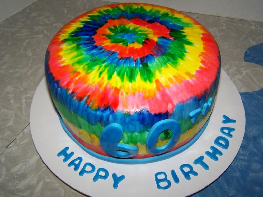 Tie Dye Happy Birthday Images Fresh Tie Dye 60th Birthday Cake by Shelbylynncakes