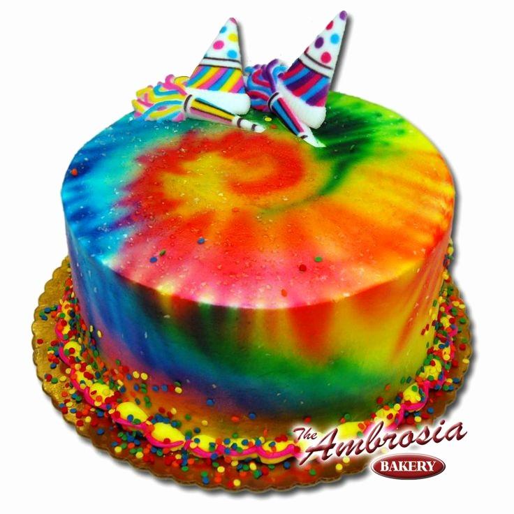 Tie Dye Happy Birthday Images Fresh Tie Dye Birthday Cake Cakes Pinterest