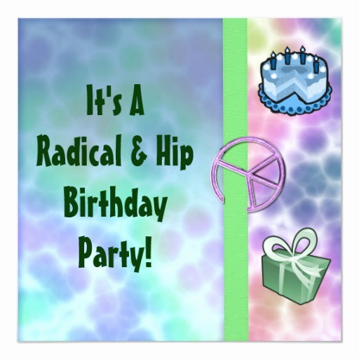Tie Dye Happy Birthday Images Fresh Tie Dye Peace Birthday Announcements