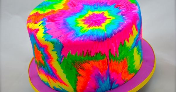 Tie Dye Happy Birthday Images Inspirational Tie Dye Hand Painted with Editable Fluorescent Colours