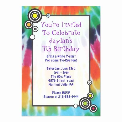Tie Dye Happy Birthday Images Lovely Groovy Tie Dye Happy Birthday Party Invitation
