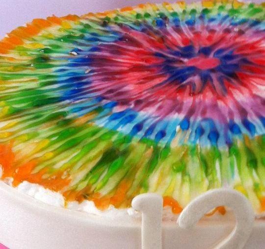 Tie Dye Happy Birthday Images Lovely Tie Dye Birthday Cake Cake by Sweet Scene Cakes Cakesdecor