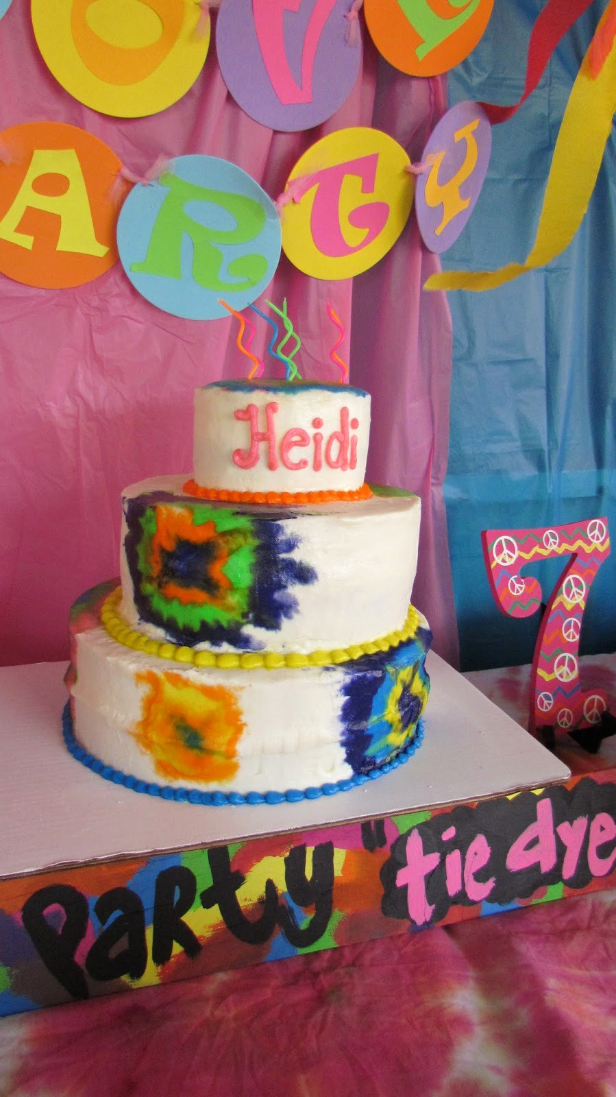 Tie Dye Happy Birthday Images Luxury the Colquett 5 Heidi S Tie Dye Party Happy 7th Birthday