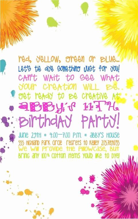 Tie Dye Happy Birthday Images Unique Tie Dye Party Invitations Google Search