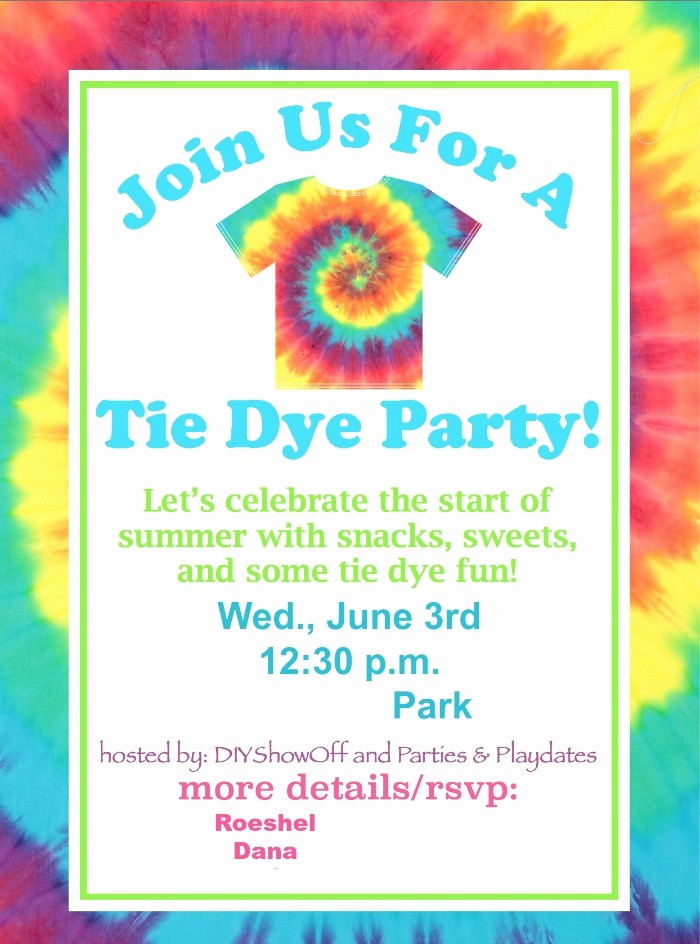 Tie Dye Party Invitations Printable Beautiful Tie Dye Party Fundiy Show F ™ – Diy Decorating and Home