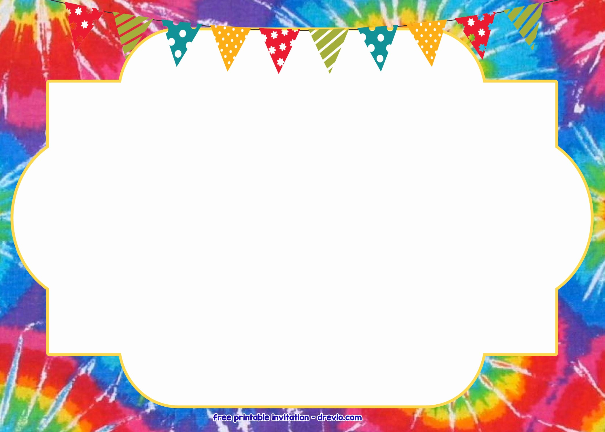 Tie Dye Party Invitations Printable Inspirational Free Tie Dye Invitation Template