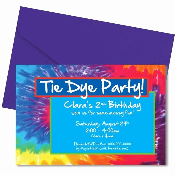 Tie Dye Party Invitations Printable Inspirational Tie Dye Party Invitation Tiedye Party Invitation Digital