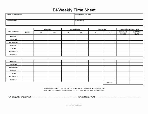 Time Card Calculator Bi Weekly Lovely Excel Biweekly Timesheet Time Sheet Excel Template Payroll