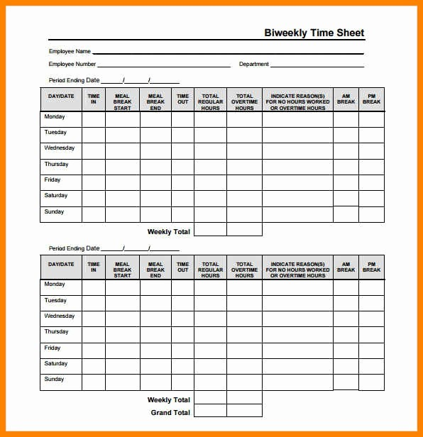 Time Card Calculator Bi Weekly Luxury Biweekly Time Sheet Calculator