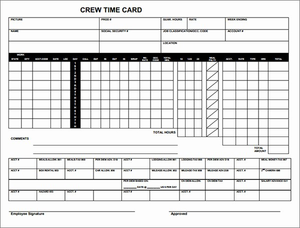 Time Card Template for Excel Best Of Really Good Time Card Excel Template Industryla