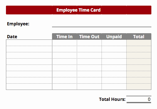 Time Card Template for Excel Best Of Timecard Templates Excel