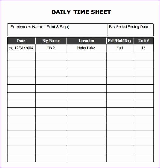 Time Card Template for Excel Elegant 5 Excel Time Card Template Exceltemplates Exceltemplates