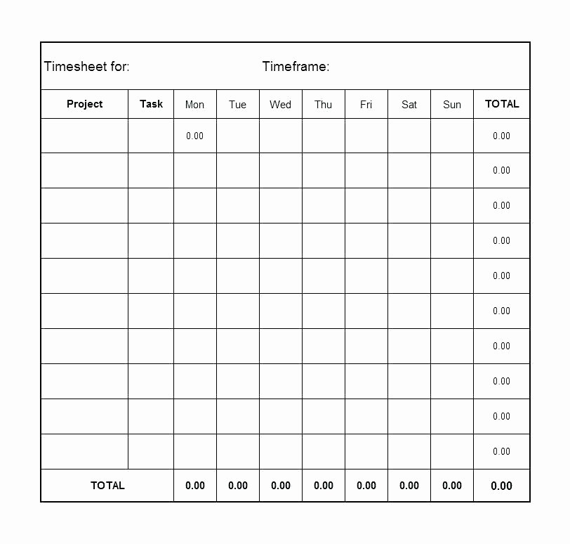 Time Card Template for Excel Inspirational Timesheet Template Free Download Month Excel Timecard