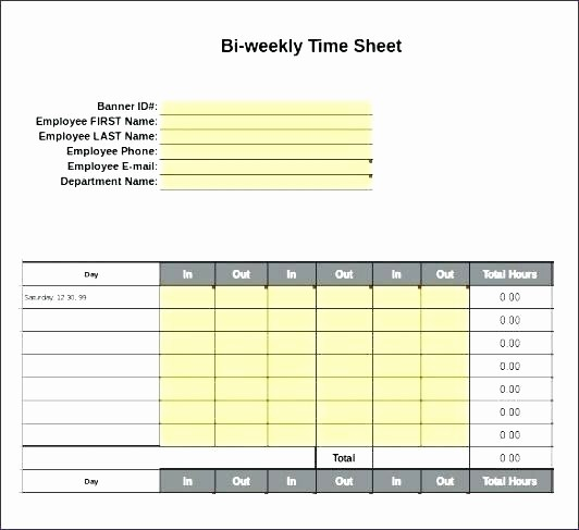 Time Card Template for Excel Lovely Timesheet Template Free Download Month Excel Timecard