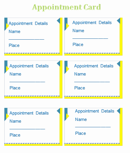 Time Card Template for Word Beautiful Appointment Card Template Templates for Microsoft Word