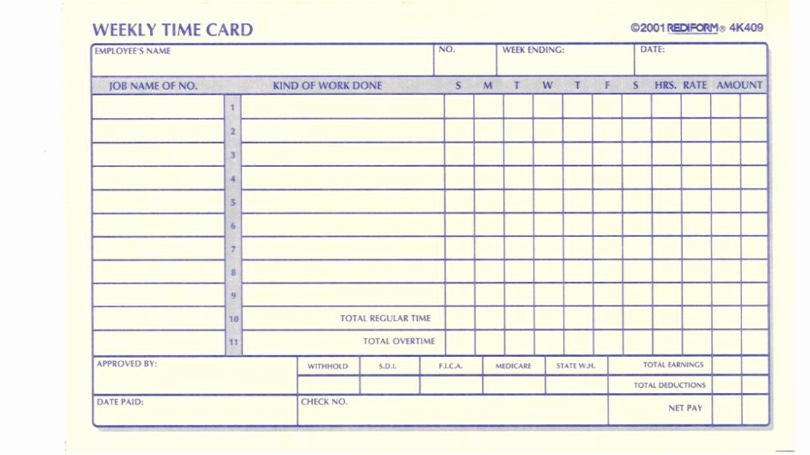 Time Card Templates Free Printable Awesome Anyone Have Template for Time Cards File Swap