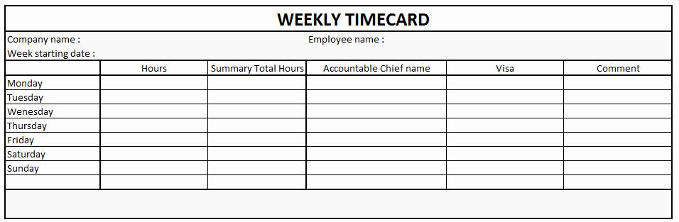 Time Card Templates Free Printable Beautiful 4 Free Printable Time Cards Templates Excel Xlts