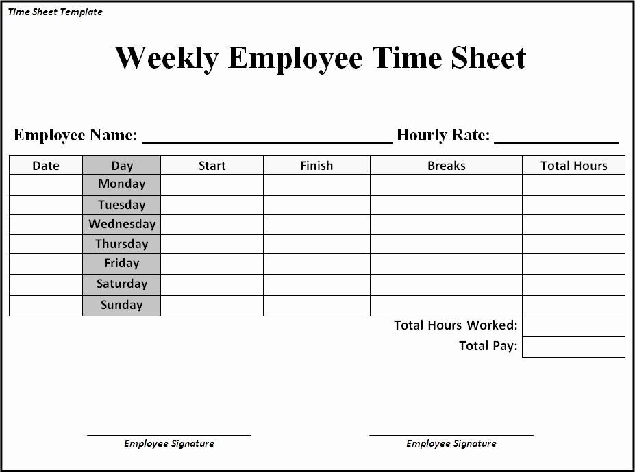 Time Card Templates Free Printable Elegant 9 Best Of Free Printable Time Sheets Templates