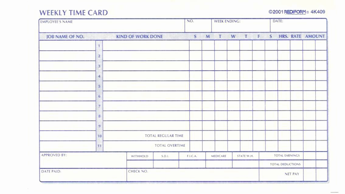Time Card Templates Free Printable Lovely Full Size Time Cards with Printable Sheets for